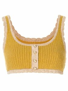 Alice McCall Heaven Help crop top - Yellow