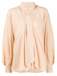 Givenchy pussycat bow long-sleeved blouse - Neutrals