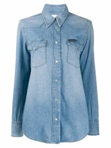 Calvin Klein denim long-sleeve shirt - Blue