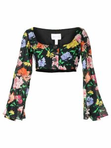 Alice McCall floral Picasso top - Black