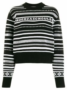 Proenza Schouler White Label intarsia striped jumper - Black