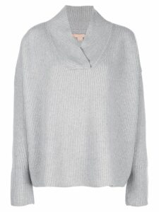 Brock Collection oversized ribbed knit jumper - Grey