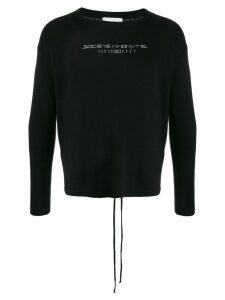 Société Anonyme logo detail jumper - Black