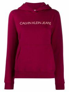 Calvin Klein logo print hoodie - PINK