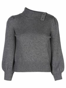 Co buttoned high neck jumper - Grey