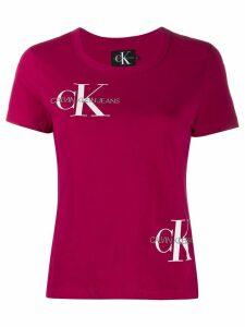 Calvin Klein embroidered logo T-shirt - PINK