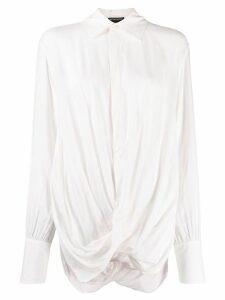 Ann Demeulemeester Ewing twisted-detail shirt - PINK