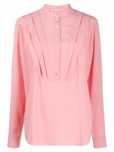 Stella McCartney tuck-detail long-sleeve blouse - PINK