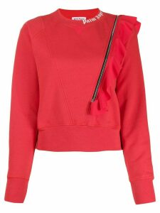 Palm Angels zip detail sweatshirt - Red