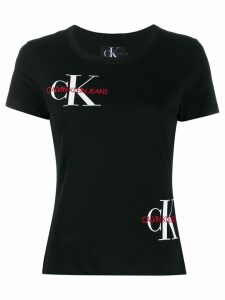 Calvin Klein embroidered logo T-shirt - Black