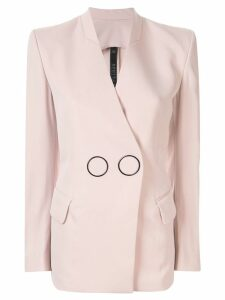 Petar Petrov Jestine collarless tailored jacket - PINK