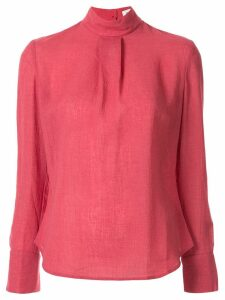 Cefinn high neck plain blouse - PINK