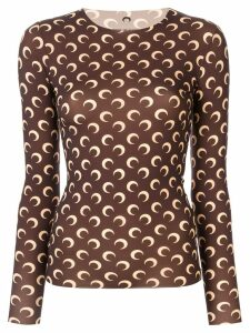 Marine Serre all-over Moon jumper - Brown