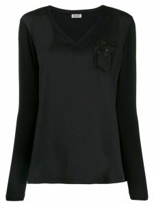 LIU JO embellished panelled T-shirt - Black