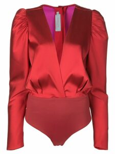 Silvia Tcherassi Deverell plunge-neck top - Red