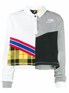 Nike crop polo top - Grey