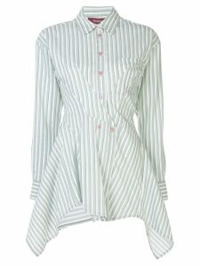 Sies Marjan asymmetric striped shirt - Green