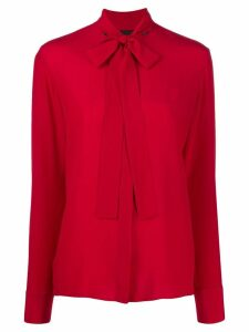 Haider Ackermann long-sleeved bow tie blouse - Red