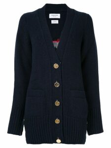 Thom Browne Lady Una Troubridge intarsia cardigan - Blue