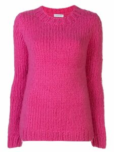 Gabriela Hearst crew-neck chunky knit sweater - PINK