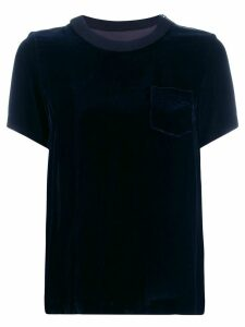 Sacai back pleated T-shirt - Black