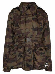 Miu Miu belted camouflage-print jacket - Multicolour