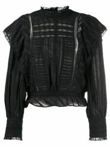 Isabel Marant Étoile peplum hem blouse - Black
