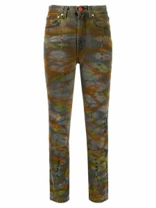 Heron Preston tie-dye tapered jeans - Grey