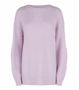 Tall Lilac Longline Jumper New Look