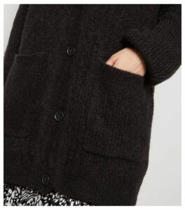 Black Long Sleeve Button Up Knitted Cardigan New Look