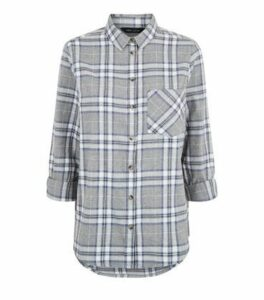 Blue Check Long Sleeve Shirt New Look