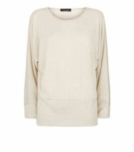 Cream Fine Knit Batwing Jumper New Look