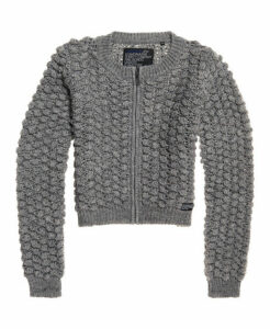 Superdry Bobble Stitch Zip Up Bomber Knit