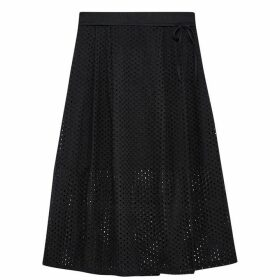 Jack Wills Oakleigh Lace Midi Skirt - Black