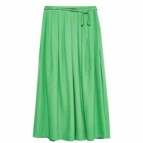 Jack Wills Tibshelf Textured Midi Skirt - Green