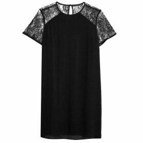 Jack Wills Biggleswade Lace Sleeve Dress - Black