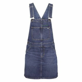 Tommy Jeans Dungaree Dress - TJ Save Mid Blu