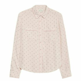 Jack Wills Raffier Pyjama Print Shirt - Pale Pink