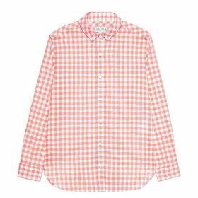 Jack Wills Guilden Checked Boyfriend Shirt - Coral