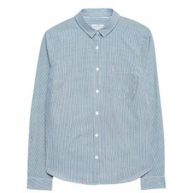 Jack Wills Prewitt Classic Fit Poplin Shirt - Navy Stripe