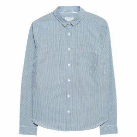 Jack Wills Prewitt Classic Fit Poplin Shirt - Navy Stripe