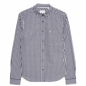 Jack Wills Prewitt Classic Fit Poplin Shirt - Navy/Pink