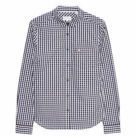Jack Wills Prewitt Classic Fit Poplin Shirt - Navy/Pink