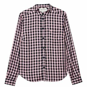 Jack Wills Tilly Drapey Check Shirt - Pale Pink