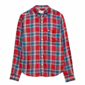 Jack Wills Tilly Drapey Check Shirt - Red