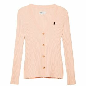 Jack Wills Warneford Skinny Rib Cardigan - Pink