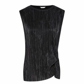 Jack Wills Aldern Pleat Detail Top - Black