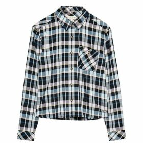 Jack Wills Sturry Checked Boxy Shirt - Navy