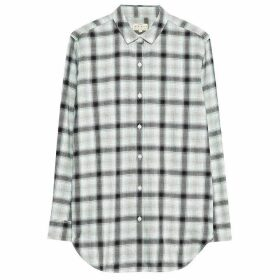 Jack Wills Emington Checked Boyfriend Shirt - Grey