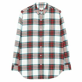 Jack Wills Railford Boyfriend Check Shirt - White